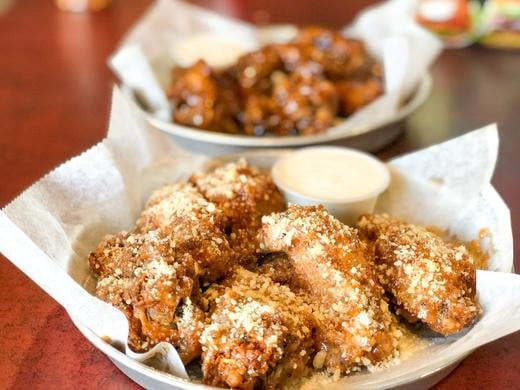 Spicy Garlic Parmesan wings